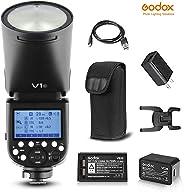 Godox V1-C TTL On-Camera Round Camera Flash Speed-light Compatible for Canon Camera