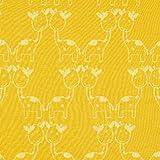 Fabulous Fabrics Baumwollstoff Strickjacquard Giraffe – senf — Meterware ab 0,5m — zum Nähen von Kinderbekleidung, Kleidern und Pullovern