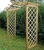 Garten Pergola aus Fichtenholz mit Omega-Bogen - Maße 238 cm (H) x 210 cm x 103 cm