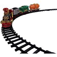 Toy vala Battery Operated Light Sound Smoke Choo Choo Classical Train Track Set for Kids