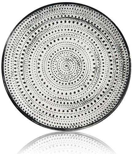 CHICCIE Assiette Design à Pois Différentes Tailles, Weiß, Durchmesser 30cm