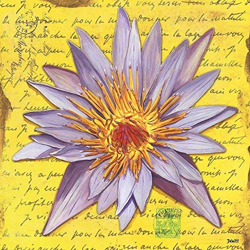 Tableau Impressions sur Toile - Peinture Lavande Rêve Peinture Florale Art pour Mur - 40X40 cm
