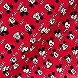 Swafing GmbH - Stoff - Lizenz Jersey Mickey Mouse Kopf rot