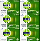 Dettol Antibacterial Soap 100g Twin Pack x 6 Packs by Dettol