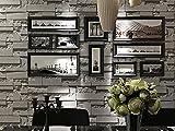 WN&BK 3D Stein Tapete PVC-Kultur-Ziegel,Abstrakte Kontakt Papier für Schlafzimmer Wohnzimmer TV Hintergrund Wandaufkleber Shop-C 53x1000cm(21x394inch)