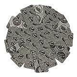 COM-FOUR 6x Pfannenschutz aus Filz, Kratzer Schutz für Pfannen, grau, Dekormotiv (06 Stück - grau)