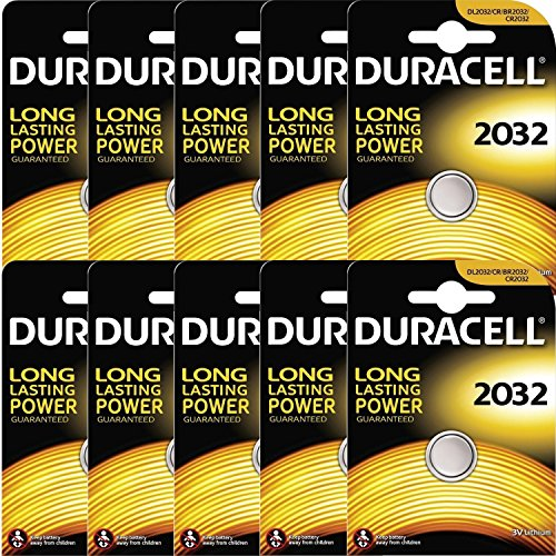 Duracell CR2032 Lithium-Knopfzelle, 3 V, Schwarz (Duracell 3v Lithium Cell Battery)