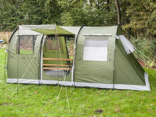 Skandika Gotland 4 Person-Man Family Tunnel Tent with Sewn-In Groundsheet & Skandika Gotland 4 Person-Man Family Tunnel Tent with Sewn-In ...