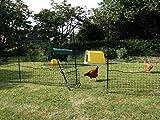 Rete per galline Omlet - 12 metri - Incluso cancello e doppi paletti
