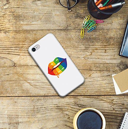 WoowCase Hülle Case für [ iPhone 7 ] Handy Cover Schutzhülle Schuhe Kamera Brille Stern Housse Gel iPhone 7 Transparent D0344