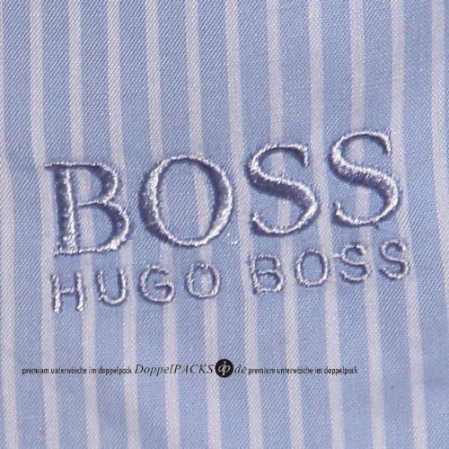 2er Pack Hugo Boss Webboxer blau weiss schwarz weiss gruen weiss Blau/Weiss