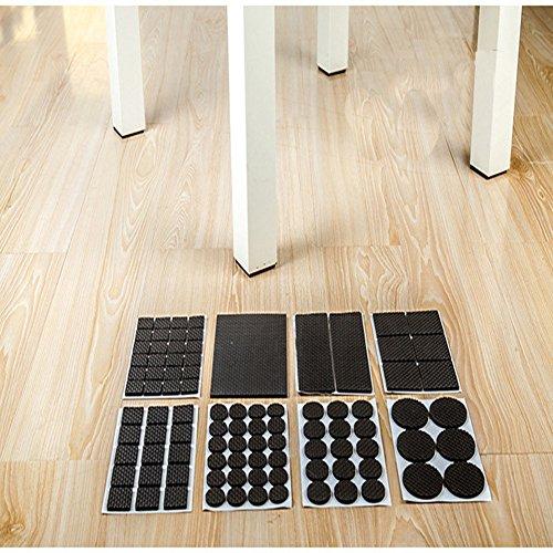 Rey leicht reduzierten rutschfeste Möbel Gummi-Pads, große Pack der 186PCS und verschiedene Größen, Schwere adhesive-best Stuhl Bein Abdeckungen und Fliesen, Laminat, Holzfußboden Protektoren -