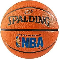 Spalding Nba Logoman Sgt Sz.7 (83-192Z) Balón de Baloncesto, Naranja, 7