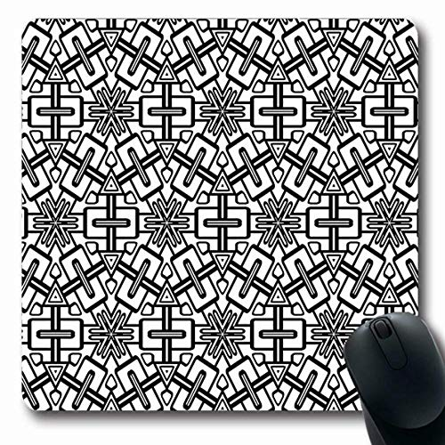 Luancrop Mauspads für Computer Patchwork-Bluse Geometrisches Muster Abstrakt Rhomb Boho Canvas Zellfarbe Tröster Design rutschfeste, längliche Gaming-Mausunterlage -