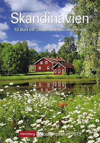 Skandinavien - Kalender 2019: Wochenplaner, 53 Blatt mit Zitaten und Wochenchronik