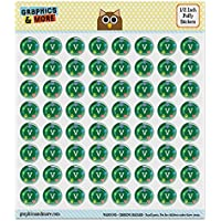 """Vegan Values Circle 0.5"""" Puffy Bubble Dome Scrapbooking Crafting Sticker Set"""