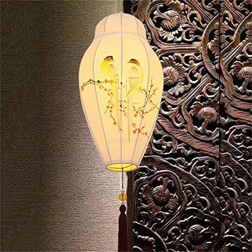 ZJM lampadario lampada a sospensione Moderna inchiostro pittura cinese il salotto dipinto retro ristorante lampadario in tessuto Stile industriale tradizionale - Design Inchiostro Cinese