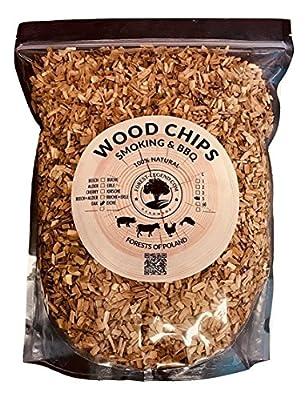 Forest Legend 5Liter Rauchen Holz Chips für BBQ und Raucher, 100% Natur aus polnischen Wäldern