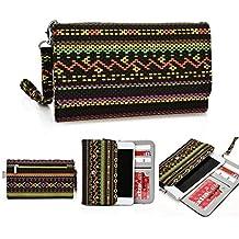 'Kroo Soporte para teléfono móvil funda de transporte Correa de muñeca con tarjeta de Crédito para para XIAOMI Redmi Note 4G/mi Note Pro multicolor amarillo