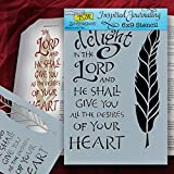 """Bible Journaling Stencil - Take Delight/Feather (6"""" X 9"""")"""