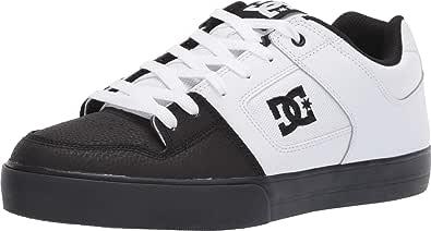 DC Shoes Pure, Scarpe da Skateboard Uomo, Bianco Nero, 40 EU