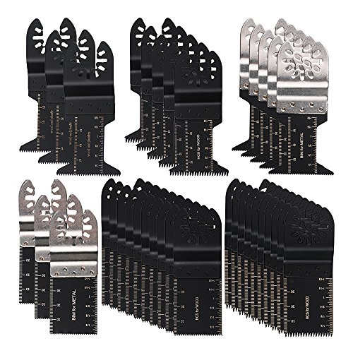 OxoxO Universal Oscillating Ecut Multi Tool Saw Blade Fits for Fein Multimaster Makita Genesis Craftsman Nextec Ridgid Ryobi Makita Milwaukee Dewalt Chicago Stainley Skil King Task Multi Tools