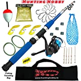 #2: Fishing Spinning Rod,Reel,Accessories Complete Combo (Beginners kit)