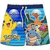 AYK Pantalones cortos de natación para niños, diseño de Pokemon