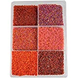 [Sponsored]eshoppee 2mm (11/0) 300 Gm Glass Beads, Seed Beads For Jewelery Making Art And Craft Diy Project Kit (11/0 Red)