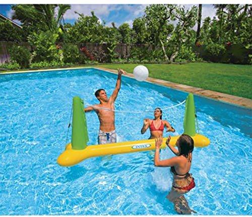 Intex Swimming Pool Volleyball Spiel Aqua Fun aufblasbare Schwimmende Ziel & Ball