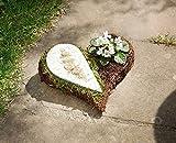 Pflanzschale Herz Planzherz Rose Planzer Übertopf Planzgefäß Friedhof Trauer Tischdeko Blumen