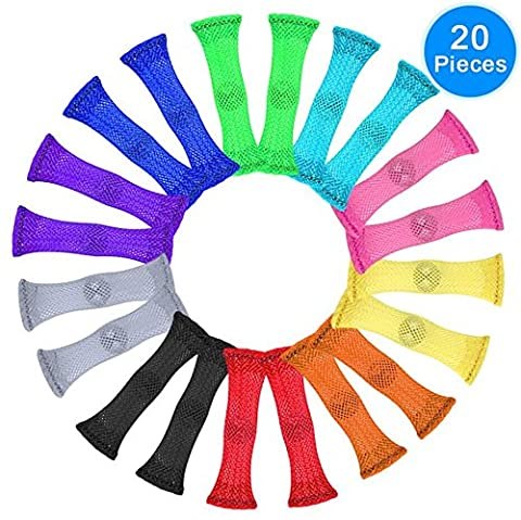 Fidget Toys (Pack of 20, 10 colors) by Austor - Relieve Stress, Increase Focus for Adults and Children, Sensory Marble and Mesh Fidgets Help with ADHD ADD OCD