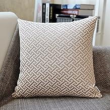 Continental Jacquard almohada, cojín de tela, almohada de sofá, almohada de oficina, cojín de cintura almohada, C, 30x50cm(12x20inch)VersionB