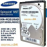 '2000GB Samsung HN de m201rad Disco Duro Interno Para PS4(2TB–6,35cm (2,5)–9,5mm Altura de construcción–5400U/min–SATA 6Gb/s–32MB de caché)