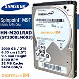 "2000 GB SAMSUNG HN-M201RAD interne Festplatte für PS4 (2 TB - 6,35 cm (2,5"") - 9,5mm Bauhöhe - 5400 U/min - SATA 6Gb/s - 32 MB Cache)"