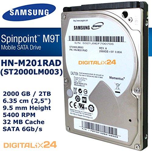 Festplatte 2000 GB (2 TB - 6,35 cm (2,5