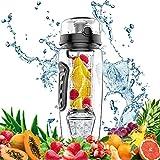Die besten Obst Infuser Wasserflaschen - Trinkflasche mit Früchtebehälter, Swonuk 32oz/1Liter Wasserflasche Sport Trinkflasche Bewertungen