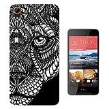 462 - Aztec Tiger Face Black And White Design HTC Desire