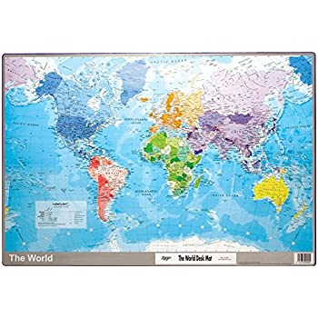 Tiger world map desk mat amazon office products world desk mats inspirational magnet gumiabroncs Image collections