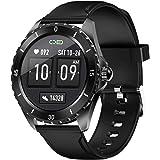 Orologio sportivo da uomo con touch screen, orologio fitness con cardiofrequenzimetro, monitoraggio del sonno, contapassi, im