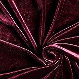 Fabulous Fabrics SAMT Stretch Edel Bordeauxrot —