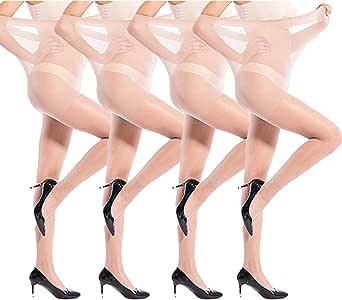 ANDIBEIQI 2 Paia Collant Premaman Opachi | Calze Maternit¨¤ Comode, Strutturate Ed Elasticizzate | Calzamaglia Mezza Stagione Per Futura Mamma | 20 Den