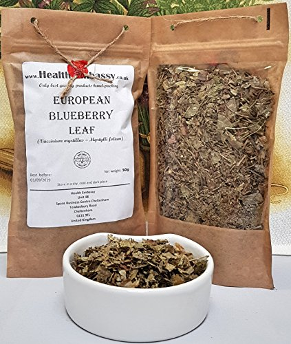 Blueberry-blatt-tee (Heidelbeere Blatt (Vaccinium myrtillus – Myrtylli folium) 50g / European Blueberry Leaf 50g - Health Embassy - 100% Natural)
