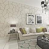 Moderne Minimalistische Dreidimensionale Vlies Tapete Atmosphäre Europäischen Stil Geometrie Tapeten Schlafzimmer Wohnzimmer Tv - Hintergrund - Wand Beige Wallpaper