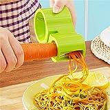 Addfun®2 Fächerkrümmer Handbuch Spiralizer,Spiral Cutter für Gemüse mit Spitzer