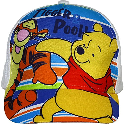 Disney Winnie the Pooh Cap, Kappe mit Tiger, Blau/Weiß (50, Weiß)