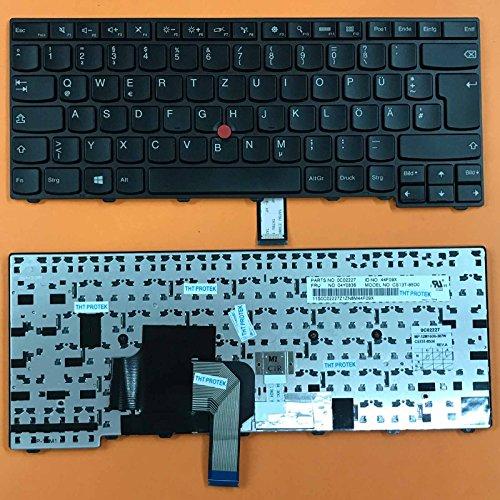 kompatibel mit Lenovo Thinkpad L440, L450 Tastatur - Farbe: schwarz - mit Stick-Point - Deutsches Tastaturlayout -