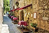 Artland Qualitätsbilder I Poster Kunstdruck Bilder 90 x 60 cm Landschaften Europa Italien Foto Orange C3NO Toskana