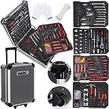 Masko® 969 tlg Werkzeugkoffer Werkzeugkasten Werkzeugkiste Werkzeug Trolley ✔ Profi ✔ 969 Teile ✔ Qualitätswerkzeug (Black/Anthrazit)