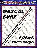 Caña de pescar Colmic Mezcal Surf casting de 4,20 m,100–250g, dividida en 3 secciones
